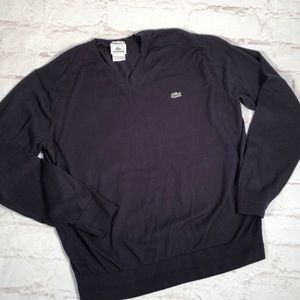 Lacoste sweater.  Size Large. Navy blue